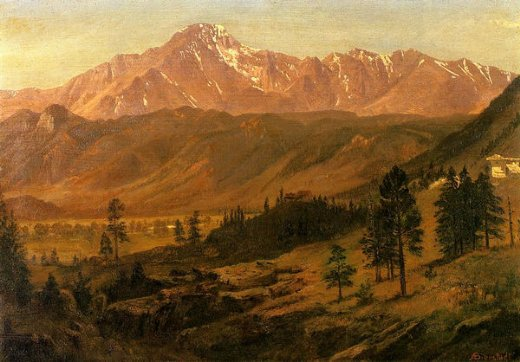 albert bierstadt pikes peak oil painting