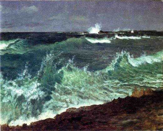 albert bierstadt seascape painting