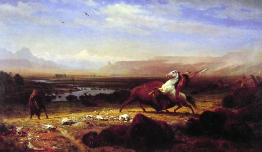 albert bierstadt the last of the buffalo oil painting