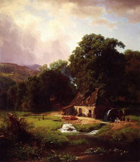 albert bierstadtthe old mill Painting-37807