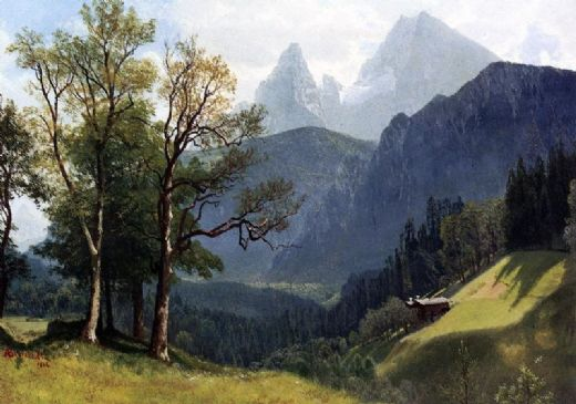 albert bierstadt tyrolean landscape paintings