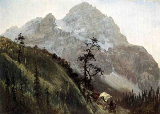 albert bierstadt western trail the rockies prints