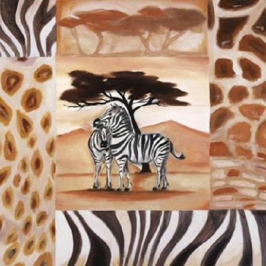 alfred gockel animals of the veldt zebras oil painting