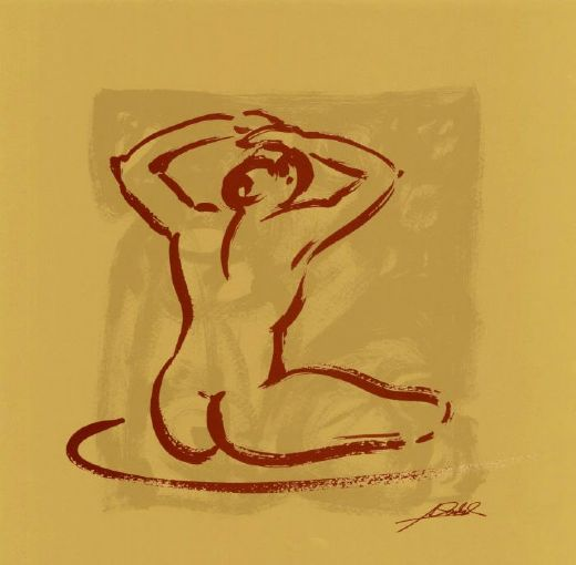 alfred gockel body language i (gold) prints