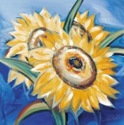 alfred gockelbold sunflowers Painting-77704