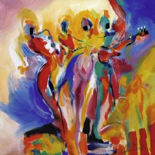 alfred gockel jazz explosion ii paintings