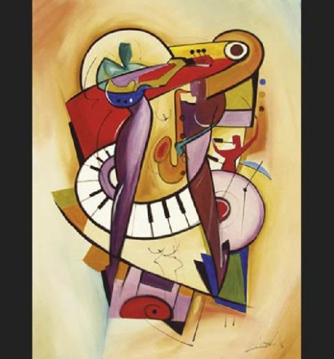 alfred gockel play it again ii painting