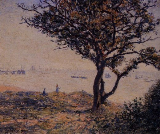alfred sisley a cardiff shipping lane painting