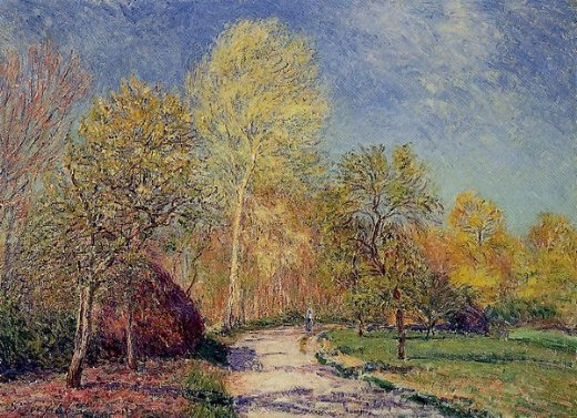 alfred sisley a may morning in moret painting