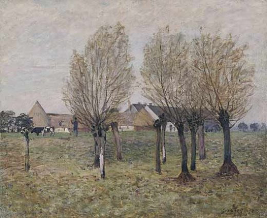 alfred sisley a normandy farm paintings