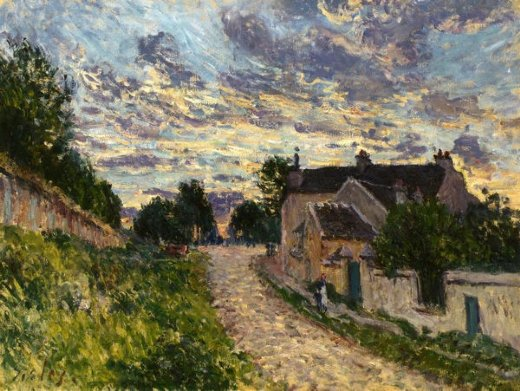 alfred sisley a path in louveciennes painting