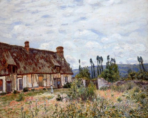 alfred sisley abandoned cottage prints