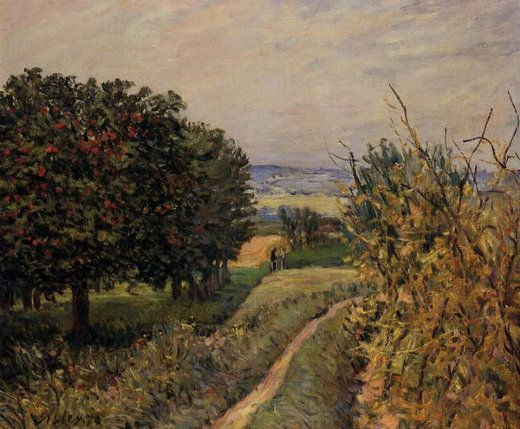 alfred sisley among the vines near louveciennes paintings