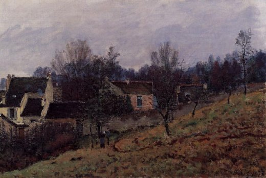 alfred sisley autumn in louveciennes painting