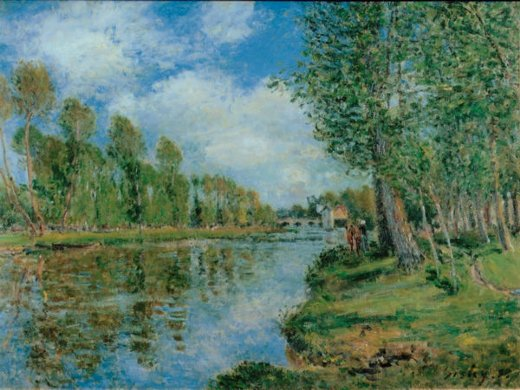 alfred sisley banks of the loing iii paintings