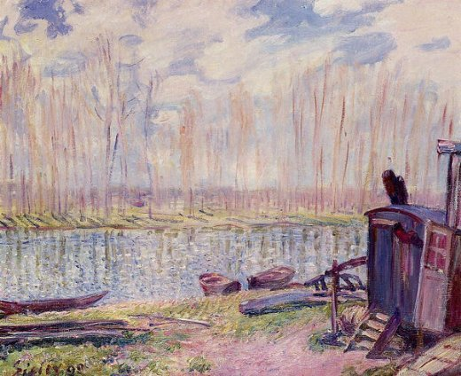 alfred sisley banks of the loing painting