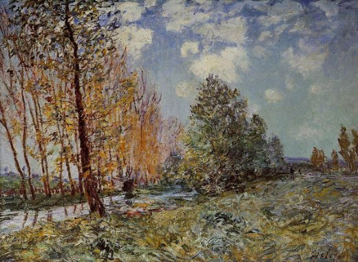 alfred sisley by the river painting