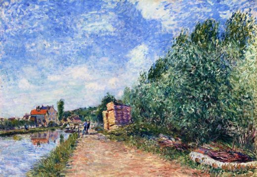 alfred sisley canal du loing painting