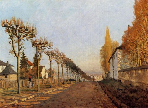alfred sisley chemin de la machine louveciennes paintings