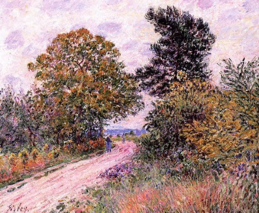 alfred sisley edge of the fountainbleau forest painting