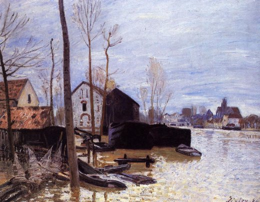 alfred sisley flooding at moret painting