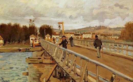 alfred sisley footbridge at argenteuil paintings