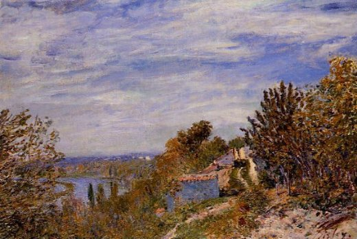 alfred sisley footpath in the gardens at by painting