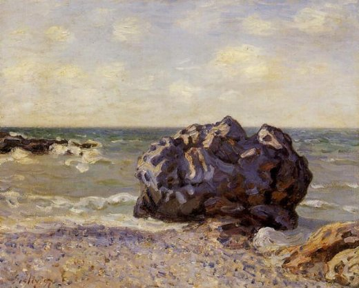 alfred sisley langland bay storr s rock morning painting