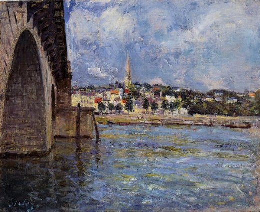 alfred sisley the bridge at saint posters