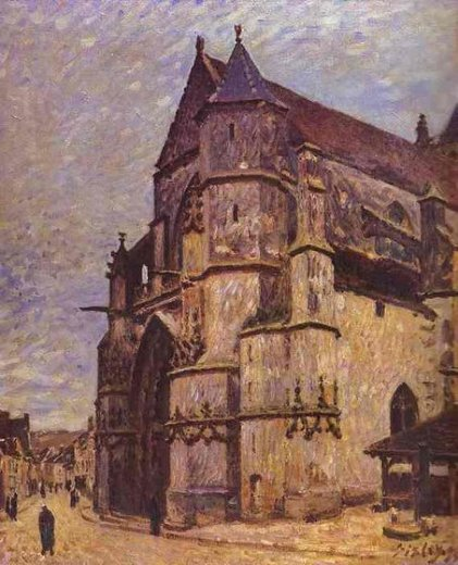 alfred sisley the church at moret winter paintings