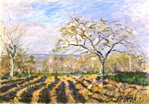alfred sisley the furrows painting