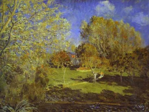 alfred sisley the garden of hoschede montgeron painting