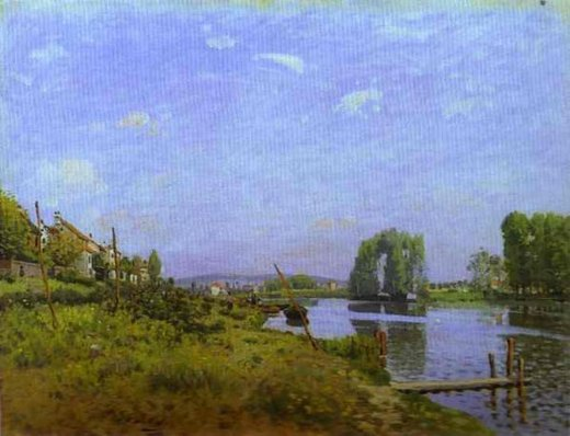 alfred sisley the island of saint painting
