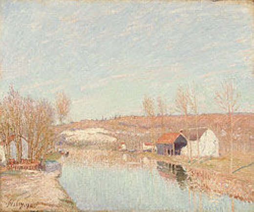 alfred sisley the loing and the slopes of saint painting