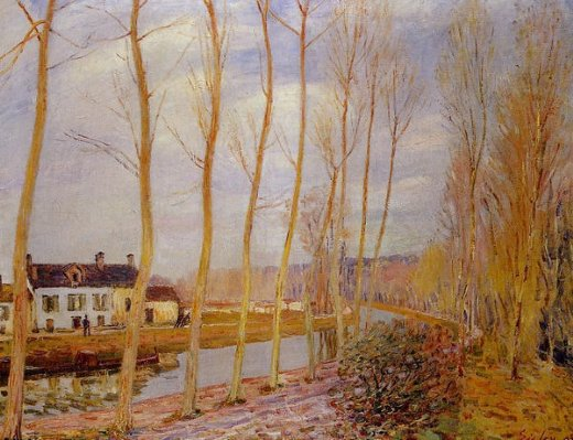 alfred sisley the loing canal at moret painting