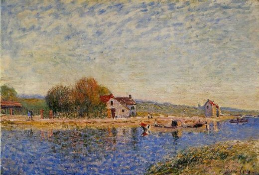 alfred sisley the loing canal v painting