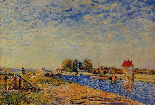 alfred sisley the loing canal vi painting