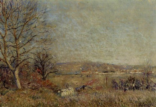 alfred sisleythe plain of veneux view of sablons Painting-37460