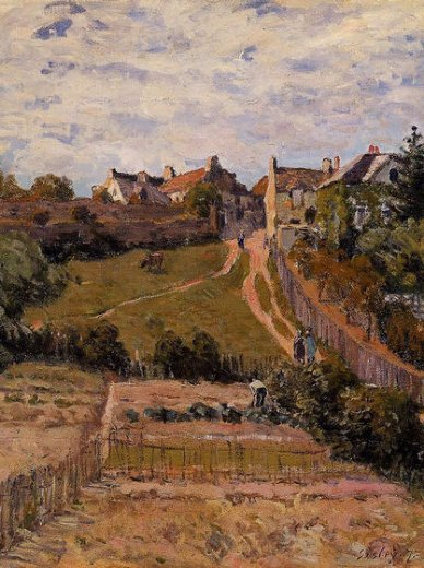 alfred sisley the rising path painting