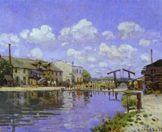 alfred sisley the saint painting