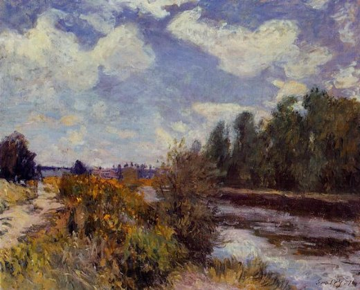 alfred sisley the seine at bougival vi painting