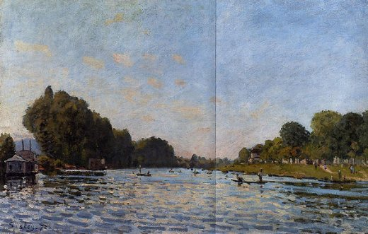 alfred sisley the seine at bougival vii painting