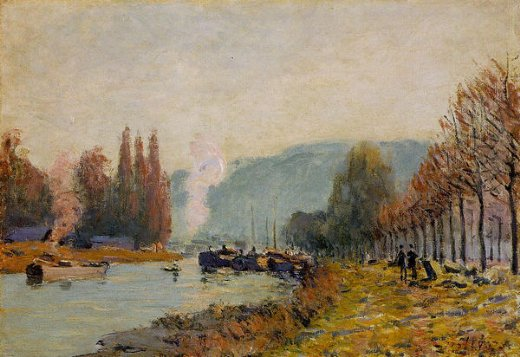 alfred sisley the seine at bougival viii painting