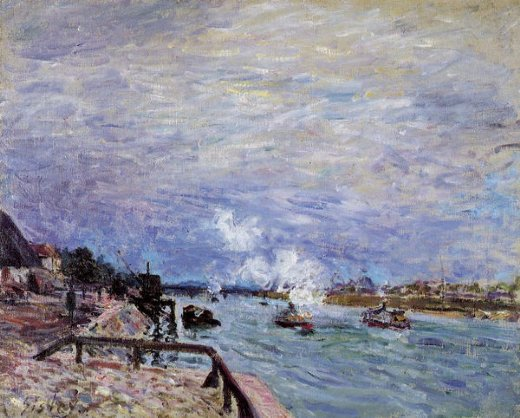 alfred sisley the seine at grenelle painting
