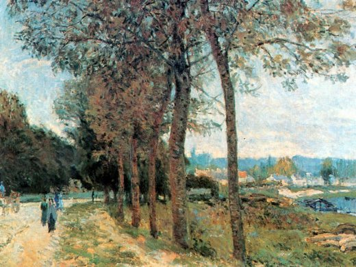 alfred sisley the seine at marly painting