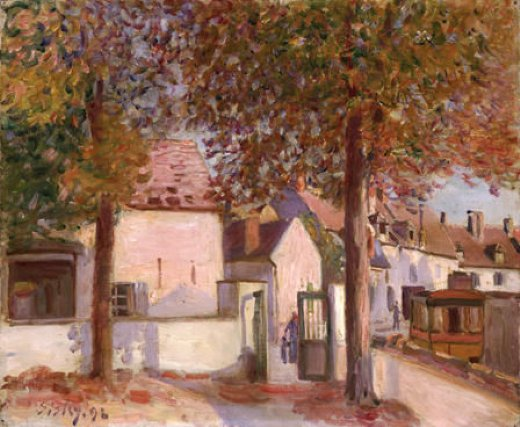alfred sisley view in moret rue de fosses painting