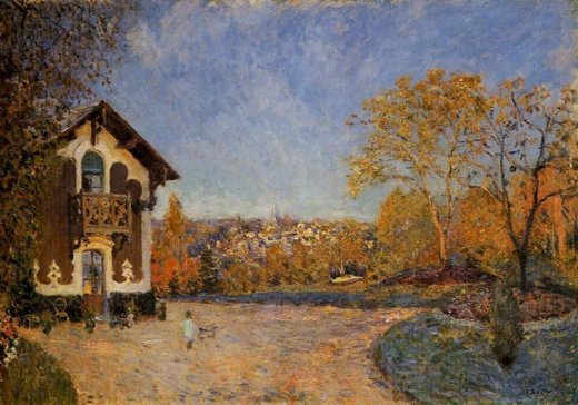 alfred sisley view of marly painting