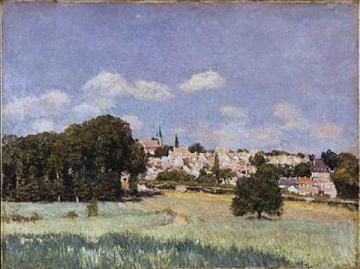 alfred sisley view of saint painting