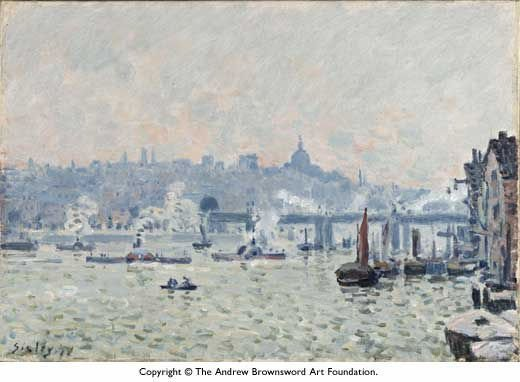 alfred sisley view of the thames charing cross bridge painting