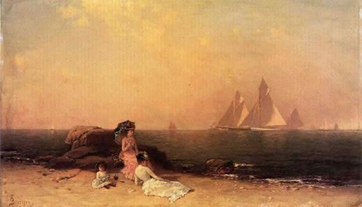alfred thompson bricher afternoon at the shore painting